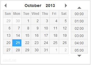 jQuery DateTimePicker plugin